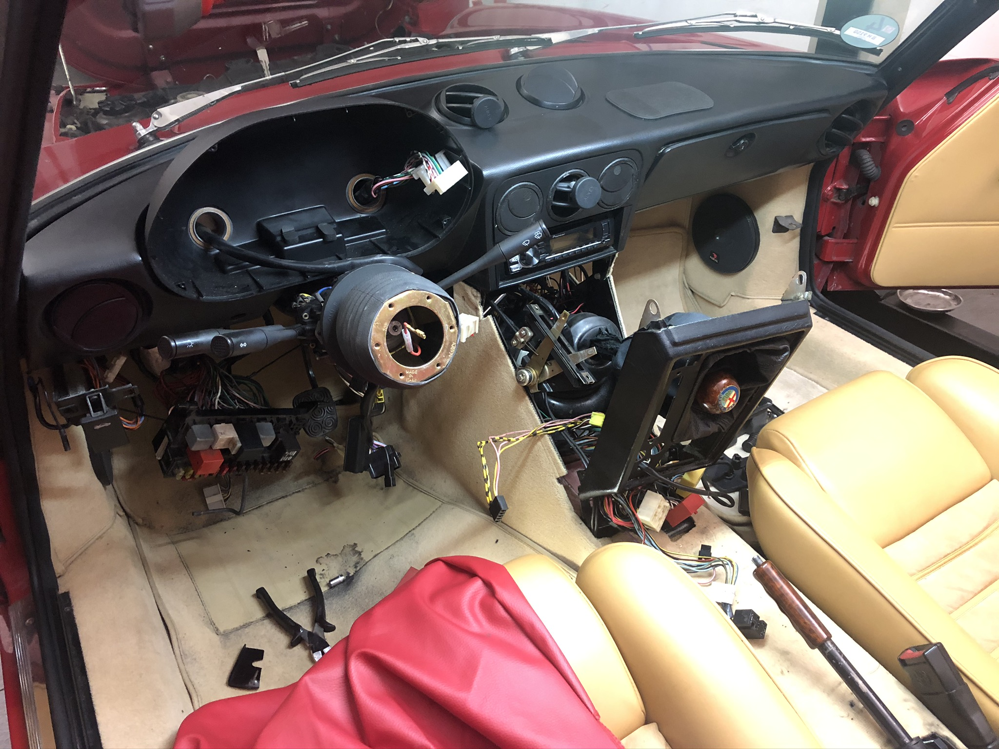 Kabelbrand an einem Alfa Romeo Spider 2.0 Serie 4