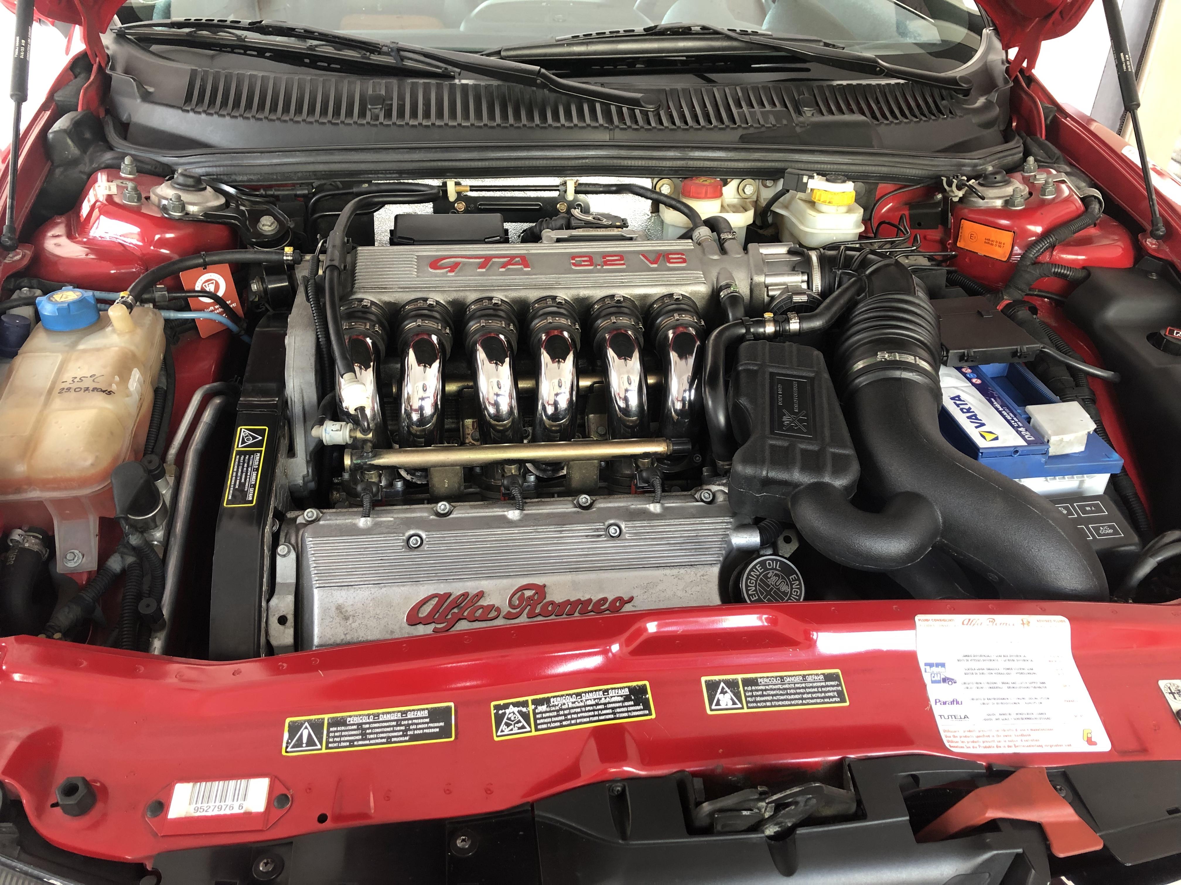 Heute stand in der Werkstatt vom Alfadoktor ein Wechsel der Lichtmaschine an einem Alfa Romeo 156 3,2 GTA an.