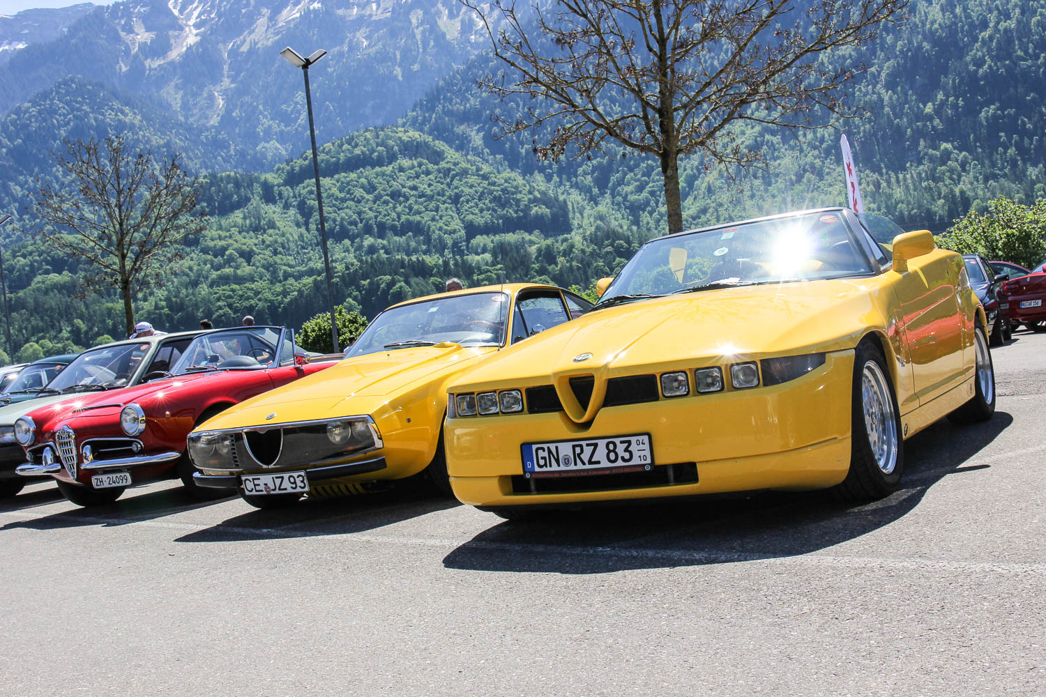 Der Alfadoktor beim Alfa Romeo Passion Meeting in Interlaken (CH)